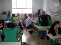 Actividades en las aulas. Intercambio Hortlax-La Fontaine