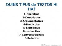 Tipus de textos