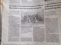 El proyecto europeo Comenius en el periódico