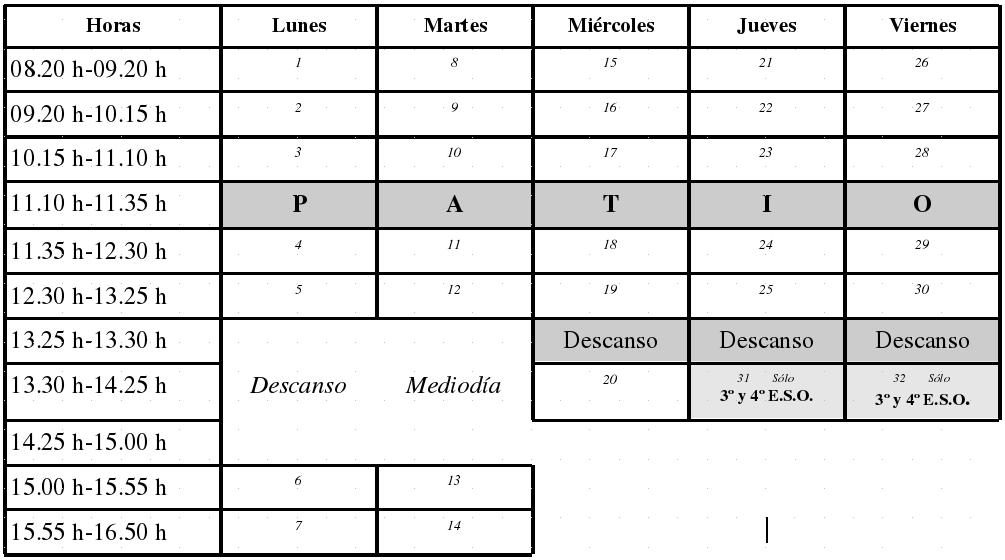 HORARIOESO17