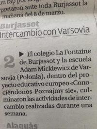 """Nuestro cole en el periódico """"El Levante """""""