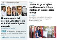 Publicada encuesta en el diario Levante-emv