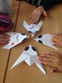 Moscas de papel, estudiando los invertebrados
