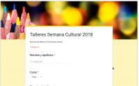 Elección de talleres, semana cultural 2018